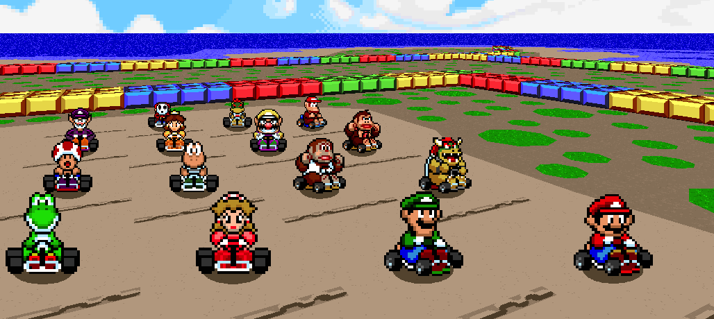 mario kart characters names and pictures